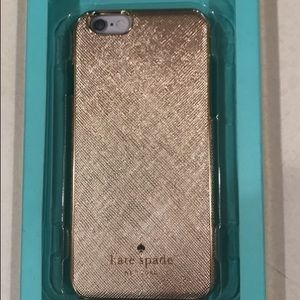 NWT Kate Spade Gold case for iPhone 6.